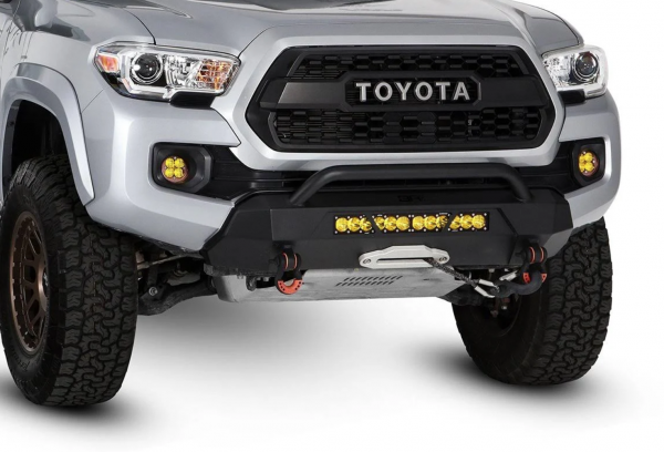 Body Armor - Body Armor TC-19339 HiLine Series Winch Front Bumper for Toyota Tacoma 2016-2020