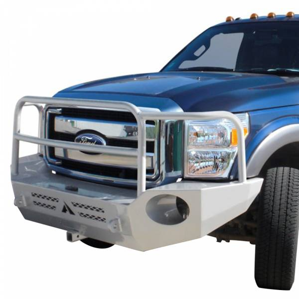 Aluminess - Aluminess 210001 Front Bumper with Brush Guard for Ford Econoline Van 1992-2007