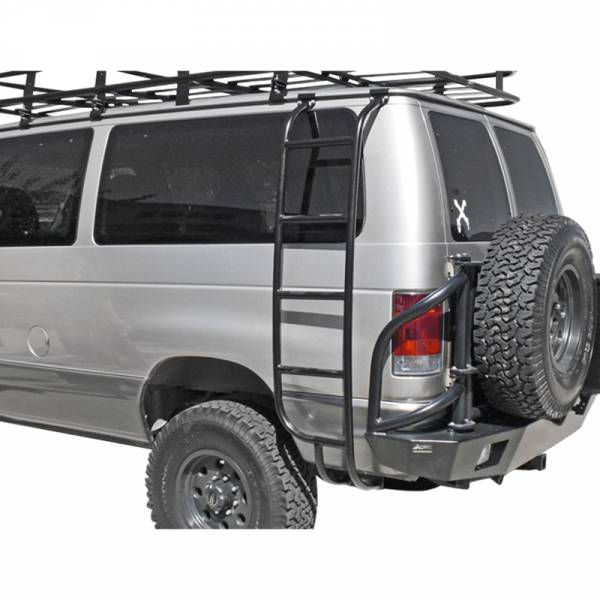 Aluminess - Aluminess 210026 Driver Side Ladder for Ford Econoline Van 1992-2014