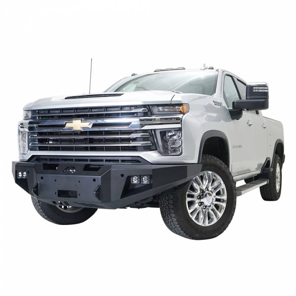 Fab Fours - Fab Fours CH20-A4951-1 Premium Front Bumper with No Guard forChevy Silverado 2500HD/3500 2020-2021