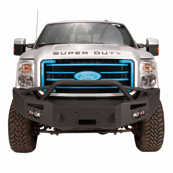 Fab Fours - Fab Fours FS11-A2552-1 Winch Front Bumper with Pre-Runner Guard for Ford F250/F350 2011-2016