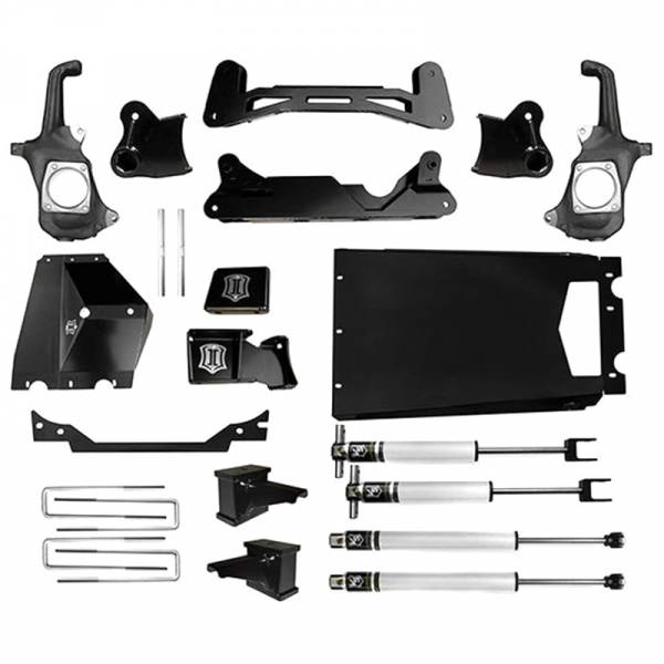 """Icon Vehicle Dynamics - Icon K78301 Stage 1 6""""-8"""" Front and Rear Lifted Suspension Lift Kit for Chevy Silverado and GMC Sierra 2500 HD/3500 HD 2011-2016"""