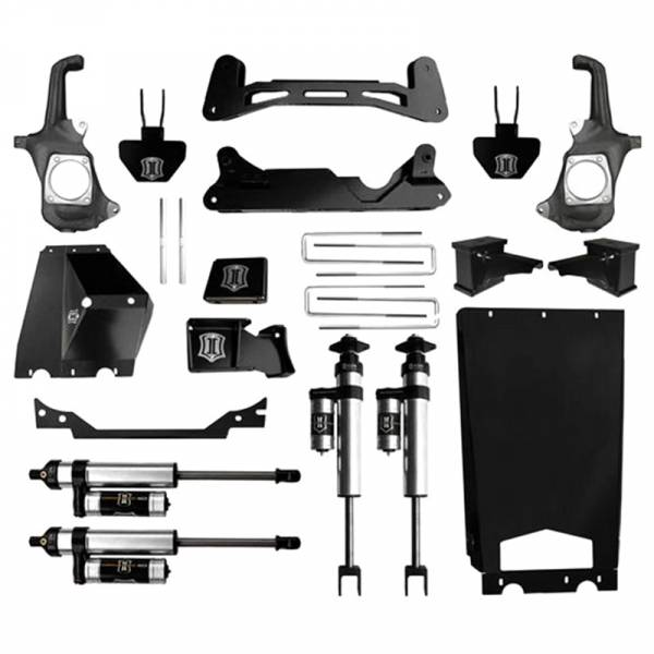 """Icon Vehicle Dynamics - Icon K78202 Stage 2 6""""-8"""" Front and Rear Lifted Suspension Lift Kit for Chevy Silverado and GMC Sierra 2500 HD/3500 HD 2011-2016"""
