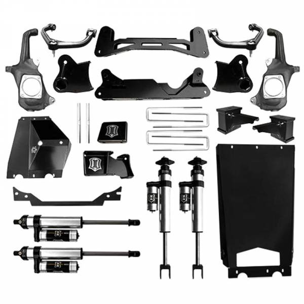 """Icon Vehicle Dynamics - Icon K78303 Stage 3 6""""-8"""" Front and Rear Lifted Suspension Lift Kit for Chevy Silverado and GMC Sierra 2500 HD/3500 HD 2011-2016"""