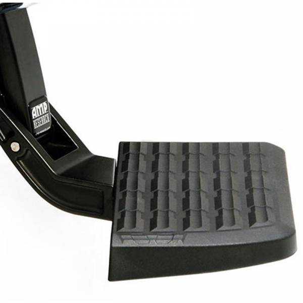 AMP Research - AMP Research 75301-01A BedStep Flip Down Bumper Step for GMC Sierra 1500/2500/3500 1999-2006