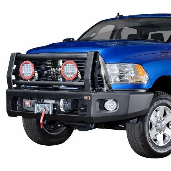 ARB 4x4 Accessories - ARB 2237020 Sahara Modular Winch Front Bumper Kit for Dodge Ram 2500/3500 2010-2018
