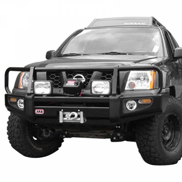 ARB 4x4 Accessories - ARB 3438270 Deluxe Winch Front Bumper for Nissan Xterra 2005-2010