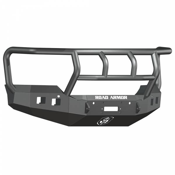 Road Armor - Road Armor 215R2B Stealth Winch Front Bumper with Titan II Guard and Square Light Holes for GMC Sierra 2500 HD/3500 HD 2015-2019