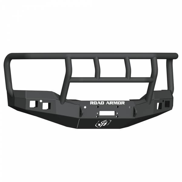 Road Armor - Road Armor 2161F2B Stealth Winch Front Bumper with Titan II Guard and Square Light Holes for GMC Sierra 1500 2016-2017