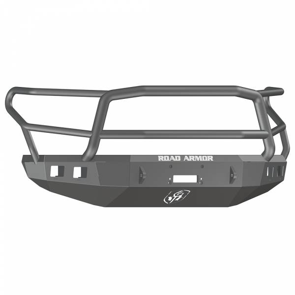 Road Armor - Road Armor 914R5B Stealth Winch Front Bumper with Lonestar Guard and Square Light Holes for Toyota Tundra 2014-2020