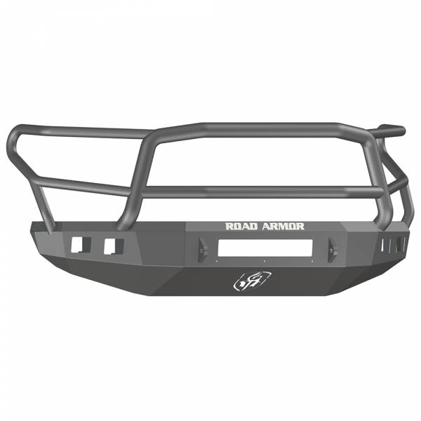 Road Armor - Road Armor 914R5B-NW Stealth Non-Winch Front Bumper with Lonestar Guard and Square Light Holes for Toyota Tundra 2014-2020