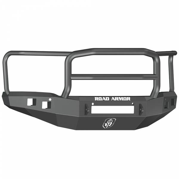 Road Armor - Road Armor 214R5B-NW Stealth Non-Winch Front Bumper with Lonestar Guard and Square Light Holes for GMC Sierra 1500 2014-2015