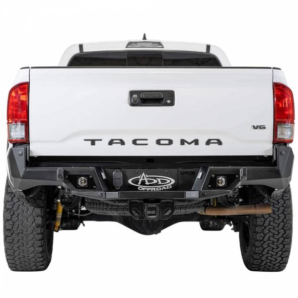 Addictive Desert Designs - ADD R681241280103 Stealth Fighter Rear Bumper with Backup Sensors for Toyota Tacoma 2016-2020