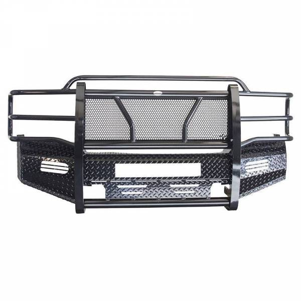 Frontier Gear - Frontier Gear 300-20-1006 Front Bumper with Light Bar Compatible for Chevy Silverado 2500/3500 2001-2002