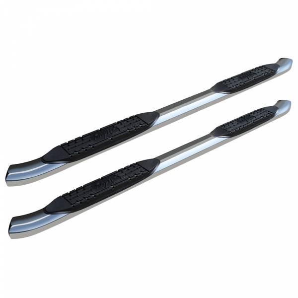 Raptor - Raptor 1507-0442 OE Style Cab Length Nerf Bars for Nissan Frontier Crew Cab 2005-2021 - Polished Stainless Steel