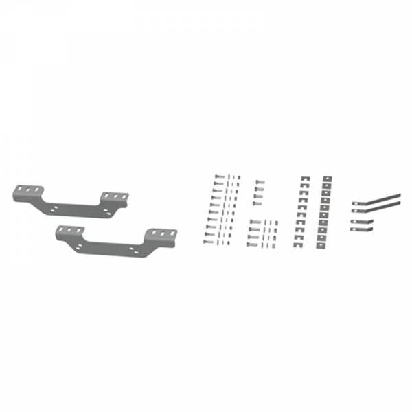 B&W - B&W RVR2506 Universal Mounting Rails with Custom Installation Brackets for Chevy Silverado and GMC Sierra 2500HD/3500 2011-2019