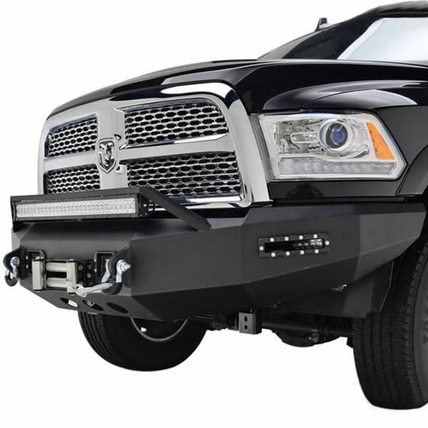 Scorpion Extreme Armor - Scorpion SCO-FBRAM13 HD Front Bumper with LED Cube Lights Dodge Ram 2500/3500 2010-2018