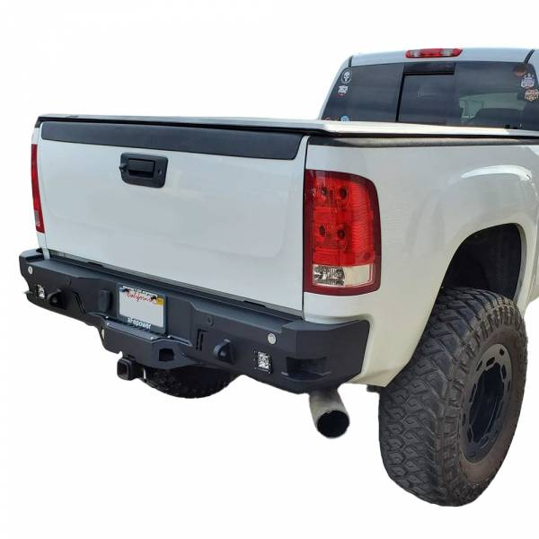 Chassis Unlimited - Chassis Unlimited CUB910542 Octane Rear Bumper with Sensor Holes for GMC Sierra 2500/3500 HD 2011-2014