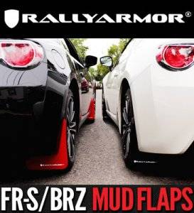 Rally Armor - Rally Armor MF23-UR-RD/WH Red Mud Flaps with White Logo Subaru BRZ & Scion FR-S