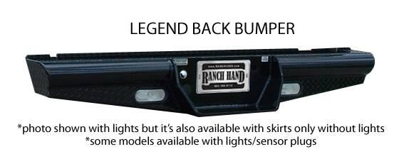 """Ranch Hand - Ranch Hand BBC998BLS 8"""" Drop Legend Rear Bumper GMC 1500HD/2500LD 1999-2006 Classic"""