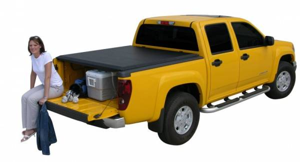 Access - Access 33189 LiteRider Roll Up Tonneau Cover Nissan Frontier KingCab & CrewCab Long Bed fits with or without Utili-track 2005-2010