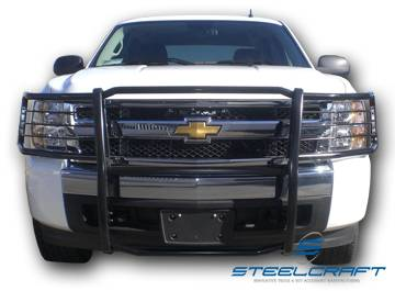 Steelcraft - Steelcraft 50320 Black Grille Guard Chevy Silverado 1500 (2007-2013)