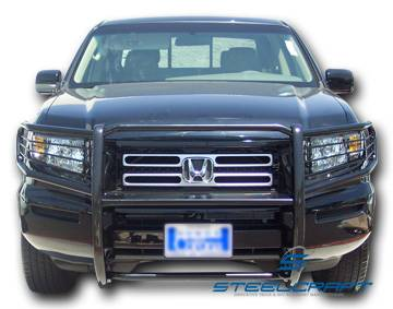 Steelcraft - Steelcraft 55070 Black Grille Guard Honda Ridgeline (2006-2008)