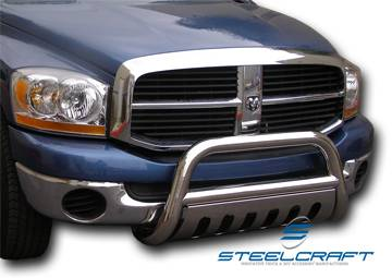 "Steelcraft - Steelcraft 72250 3"" Bull Bar for (2009 - 2011) Dodge Ram 1500 W/U-Shaped Tow Hooks (Exc. Laramie) in Stainless Steel"