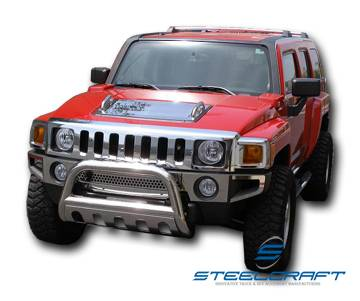 "Steelcraft - Steelcraft 70280B 3"" Bull Bar for (2009 - 2010) Hummer H3T in Stainless Steel"