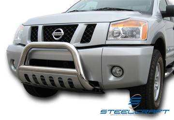 "Steelcraft - Steelcraft 74010 3"" Bull Bar for (2004 - 2011) Nissan Titan/Armada in Stainless Steel"
