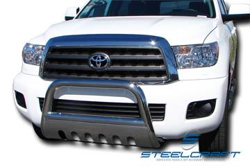 """Steelcraft - Steelcraft 73310 3"""" Bull Bar for (2008 - 2011) Toyota Sequoia in Stainless Steel"""