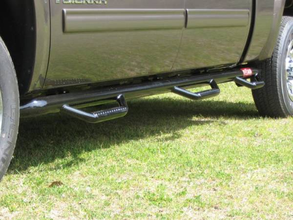 N-Fab - N-Fab F11114CC-6 Bed Access Nerf Steps Ford F350/F450 Crew Cab 4 Door Dually 8' Bed 2011-2013