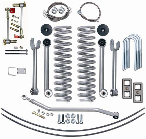 "Rubicon Express - Rubicon Express RE6111 4.5"" Super-Flex Kit with Add-A-Leafs Jeep XJ 1984-2001"