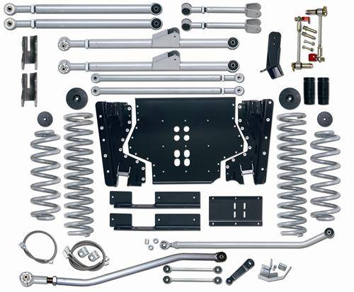 "Rubicon Express - Rubicon Express RE7214 Extreme-Duty Long Arm 4.5"" Jeep TJ 2003-2006"