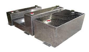 Aluminum Tank Industries - ATI TTR110-B 110 Gallon Rectangle Refueling Tank Black