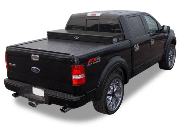 "Truck Covers USA - Truck Covers USA CR243 American Work Cover with Tool Box Chevy/GMC S10 / GMC Crew Cab Short Bed 55"" 1999-2012"