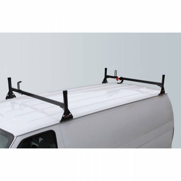 Vantech - Vantech H1082B 2 Bar Rack Black Steel Ford Econoline 1992-2012
