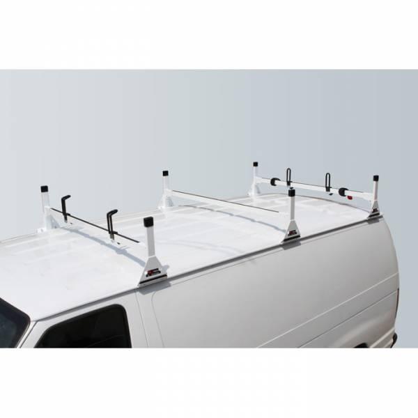 Vantech - Vantech H1023W 3 Bar Rack White Steel Chevrolet Express 1996-2012