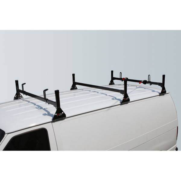 Vantech - Vantech H1083B 3 Bar Rack Black Steel Ford Econoline 1992-2012