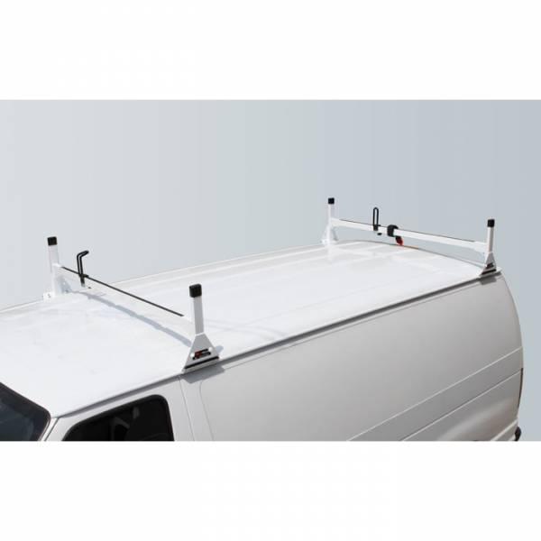 Vantech - Vantech H3022W 2 Bar Rack White Aluminum Chevrolet Express 1996-2012