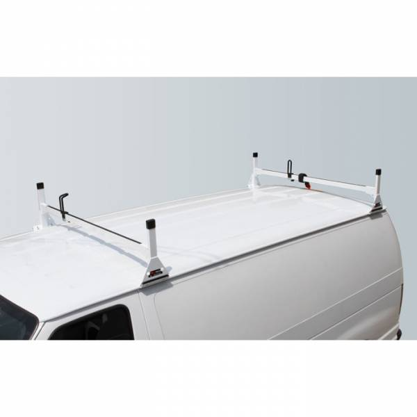 Vantech - Vantech H3082W 2 Bar Rack White Aluminum Ford Econoline 1992-2012