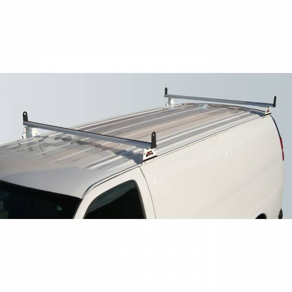 Vantech - Vantech H3056B 2 Bar with A03 Side supports Aluminum Black GMC Savana 1996-2012