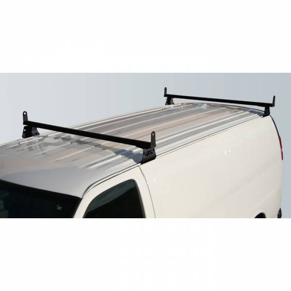 Vantech - Vantech H3056W 2 Bar with A03 Side supports Aluminum White GMC Savana 1996-2012