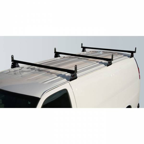 Vantech - Vantech H3027B 3 Bar with A03 Side supports Aluminum Black Chevrolet Express 1996-2012