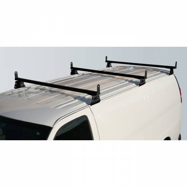 Vantech - Vantech H3057B 3 Bar with A03 Side supports Aluminum Black GMC Savana 1996-2012