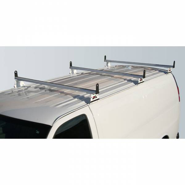 Vantech - Vantech H3057W 3 Bar with A03 Side supports Aluminum White GMC Savana 1996-2012