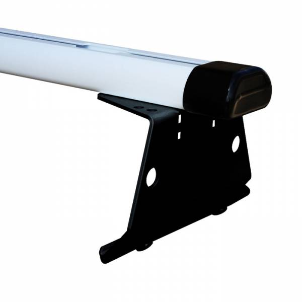 Vantech - Vantech H3202B 2 Bar Aluminum System with Rubber Bar Ends Black Aluminum Chevrolet Express 1996-2012