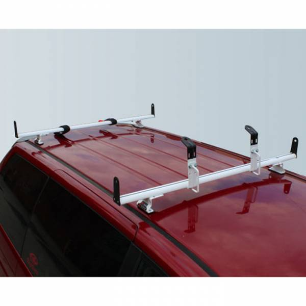 "Vantech - Vantech J2010S Silver Rack System with 55"" Cross Bars Silver Aluminum Drilling Required"