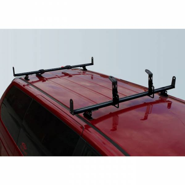 "Vantech - Vantech J2020B Black Rack System with 72"" Cross Bars Black Aluminum Drilling Required"