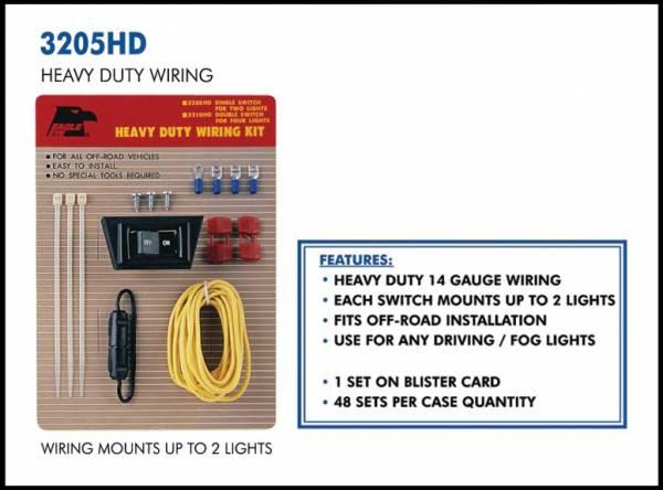 Eagle Eye Lights - Eagle Eye Lights 3205HD Wiring Kit for 2 Lights 14 Gauge Wiring 20 AMP Fuse Kit